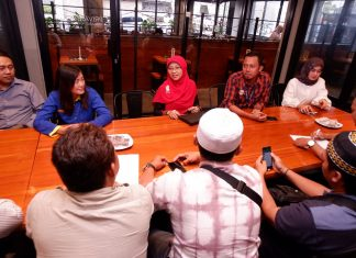 Acara BPJS Kediri bersama awak media.