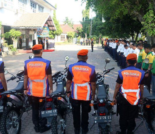 Apel pasukan di Halaman Kantor PT Daop 7 Madiun. (Foto: Humas)
