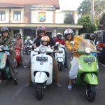 Polresta-Wartawan Naik Vespa Ngabuburit Bersama Anak Yatim