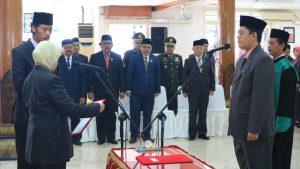 Bupati Kediri Lantik Dede Sujana Sebagai Sekda Kabupaten Kediri