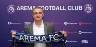 Pengenalan Milo sebagai pelatih Arema FC / foto: @aremafcofficial