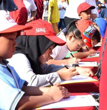 Anak anak tengah mengikuti kompetisi Coin Emas 2019