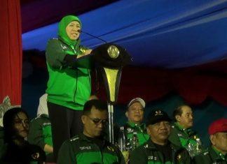 Gubernur Jatim KIP saat membuka Porprov Jatim VI di Lamongan, (6/7/2019)